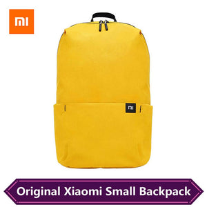 a yellow small backpack