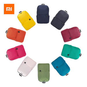 a backpack in ten different colors
