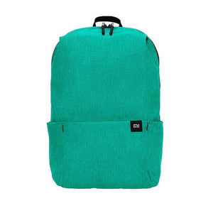 a small backpack in light green