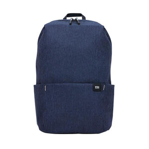 a small backpack in blue navy