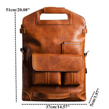 Load image into Gallery viewer, New Fashion Multifunction Men Vintage Leather Backpack - Wortii