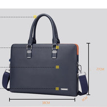Load image into Gallery viewer, size specifications of a leather briefcase