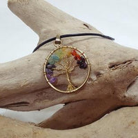 Pendant Tree Of Life Mixed Gemstones