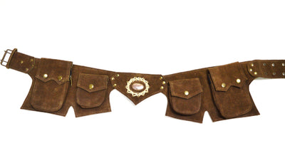 Goa Gemstone Suede Festival Belt C
