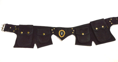 Goa Gemstone Suede Festival Belt A