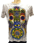 colourful, Swirling Colours, Colour Swirl, Printed Tee, Printed Shirt, Print, Cotton, Hamsa Hand, Hamsa, Fatima, Hand of Fatima, Hand, Hands, Mirror Shirt, Mirror, Sure Shirt, Sure Shirts, Sure Original, Sure No Time, Original Sure, Sure, Mirror Sure Shirt, Mirror Sure