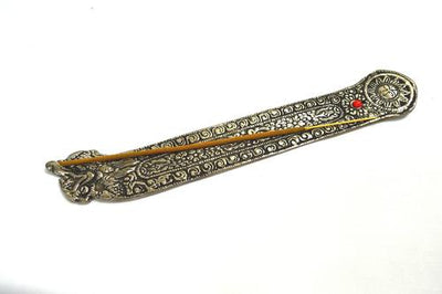 Long Flat Silver Incense Holder Mix