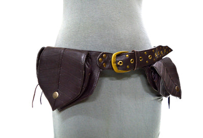 Leather Leaf Money Belt C
