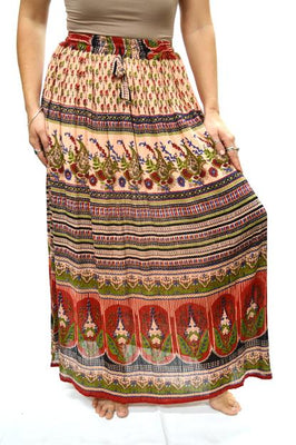 Skrt Long Crepe Indian Print D