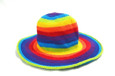 Hat Crochet R/B Bright
