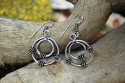 Earring Metal Dbl Circle W/Knots A