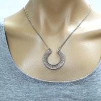 Indian Pendant On Metal Chain Necklace