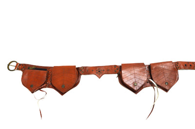 Leather Leaf Money Belt D