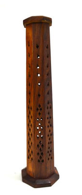 Incense Tower Holder Wooden Octagonal