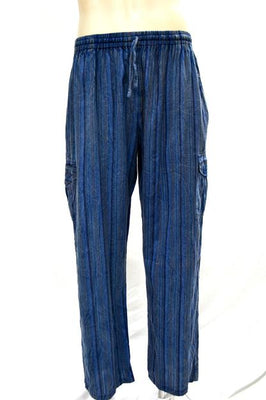 Pants Long Cargo Stripe Cotton
