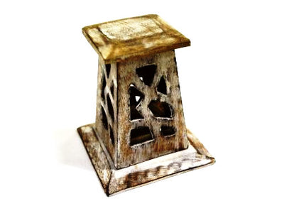 Wood incense Cone Tower small