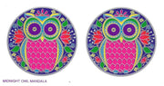 SunSeal, Window Sticker Sunlight Sticker, Midnight Owl Mandala, Midnight Owl Mandala Window Sticker,