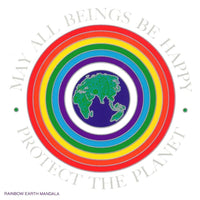 SunSeal Rainbow Earth Mandala