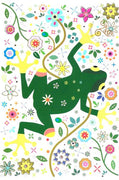Super Flower Green Frog