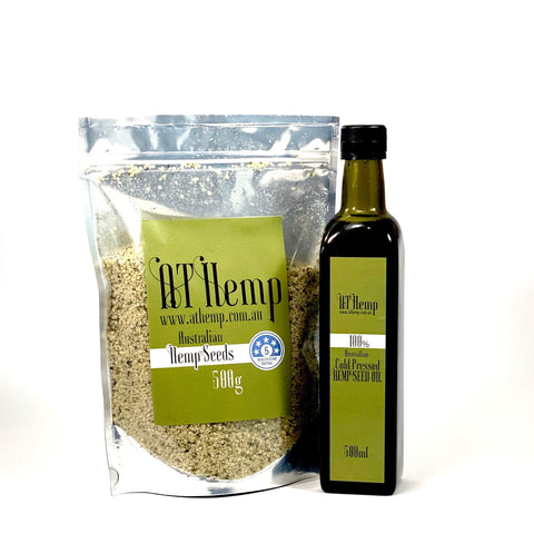 Hemp seeds and oil combo Large 500ml + 500g