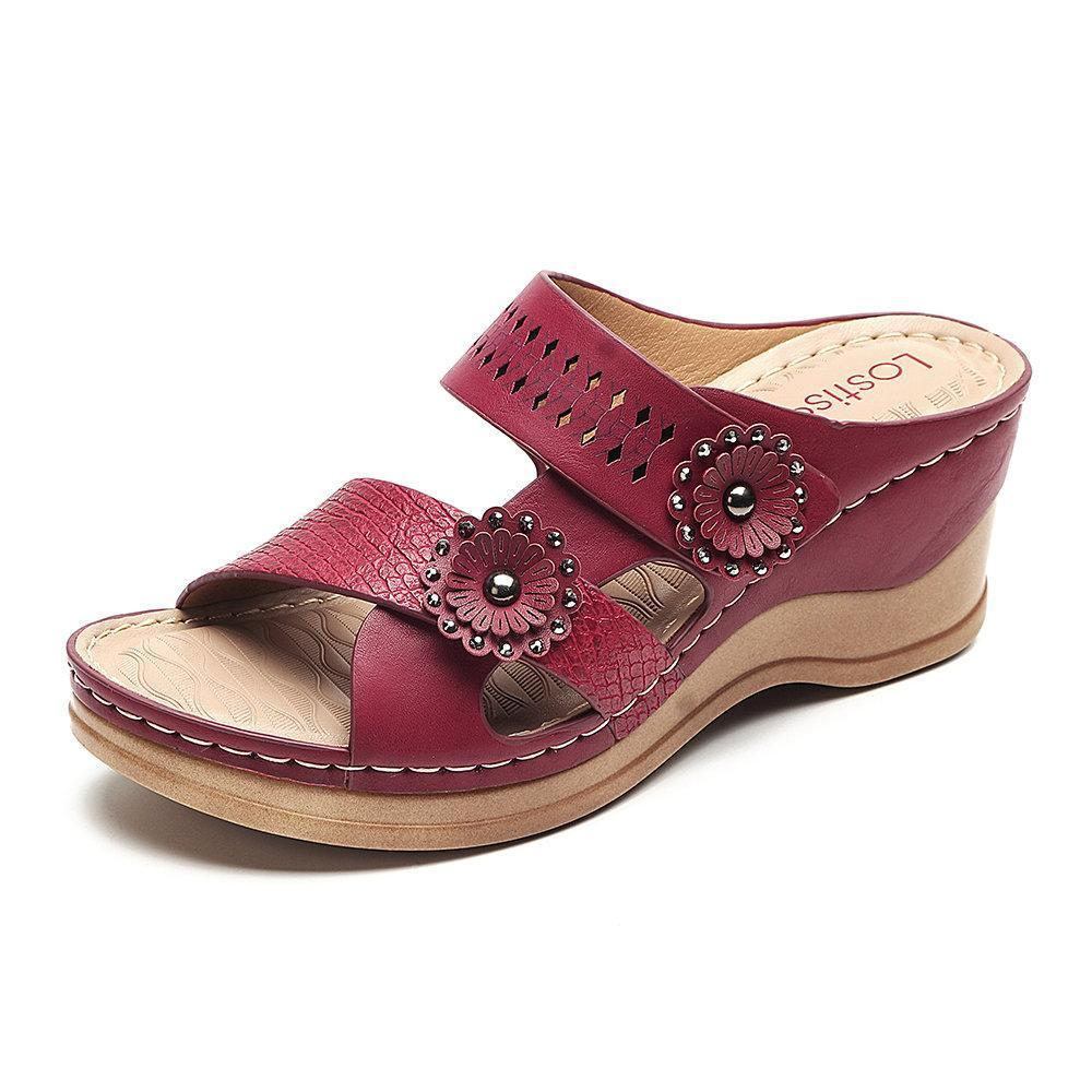 Women's Open Toes Hollow Wedge Casual Sandals
