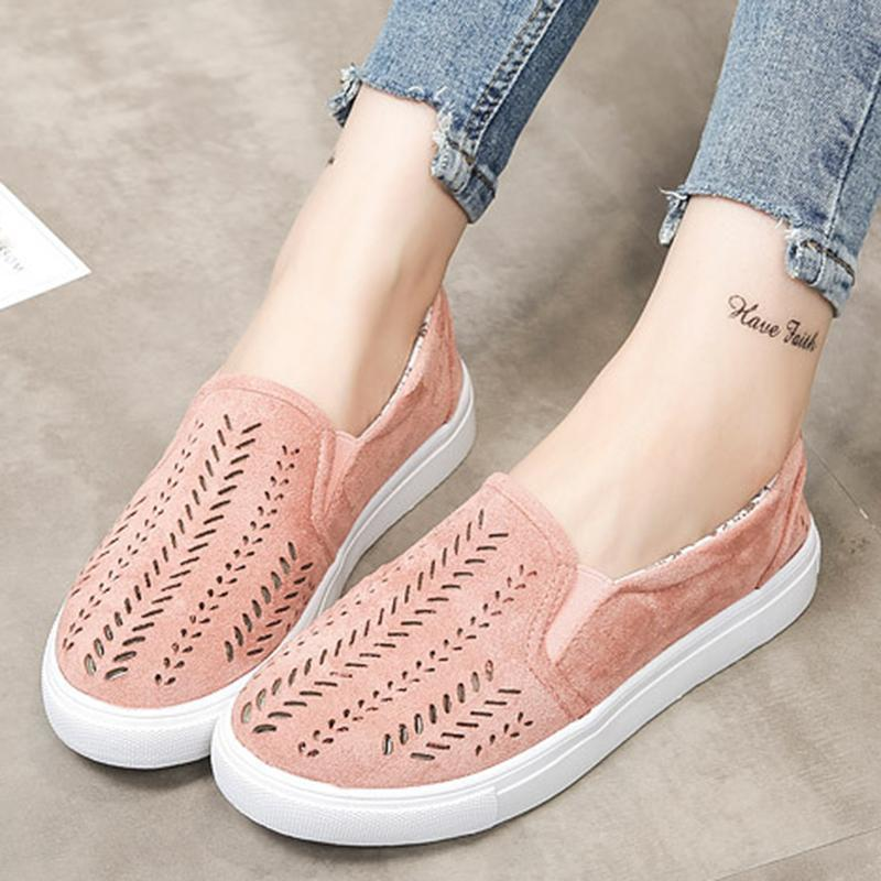 Casual Hollow-out Slip On Loafers