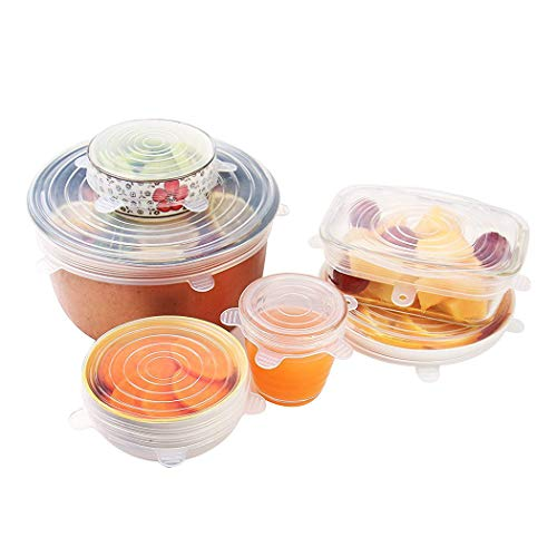 6PCS Silicone Food Preservation Lids Sets