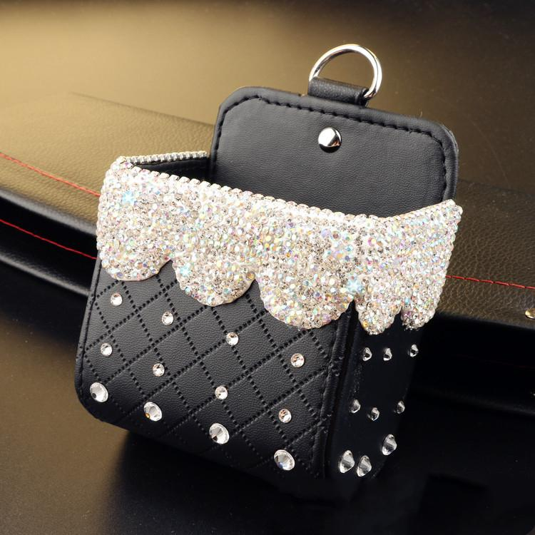Buy two free shipping-Bling Bling Car Cellphone Storage Box
