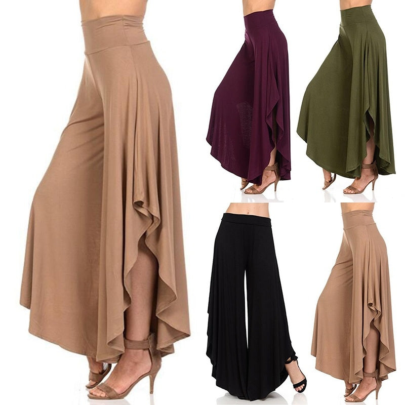 New Women Fashion Popular Pure Color  Pants