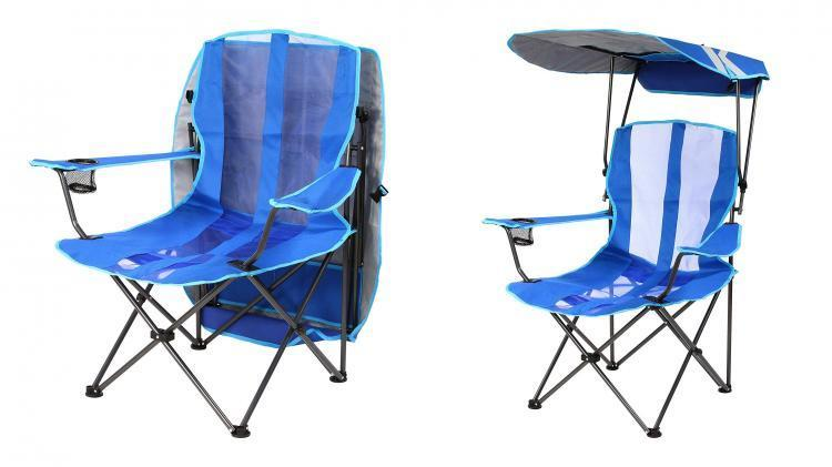 Lawn Chair With A Rain/Sun Guard
