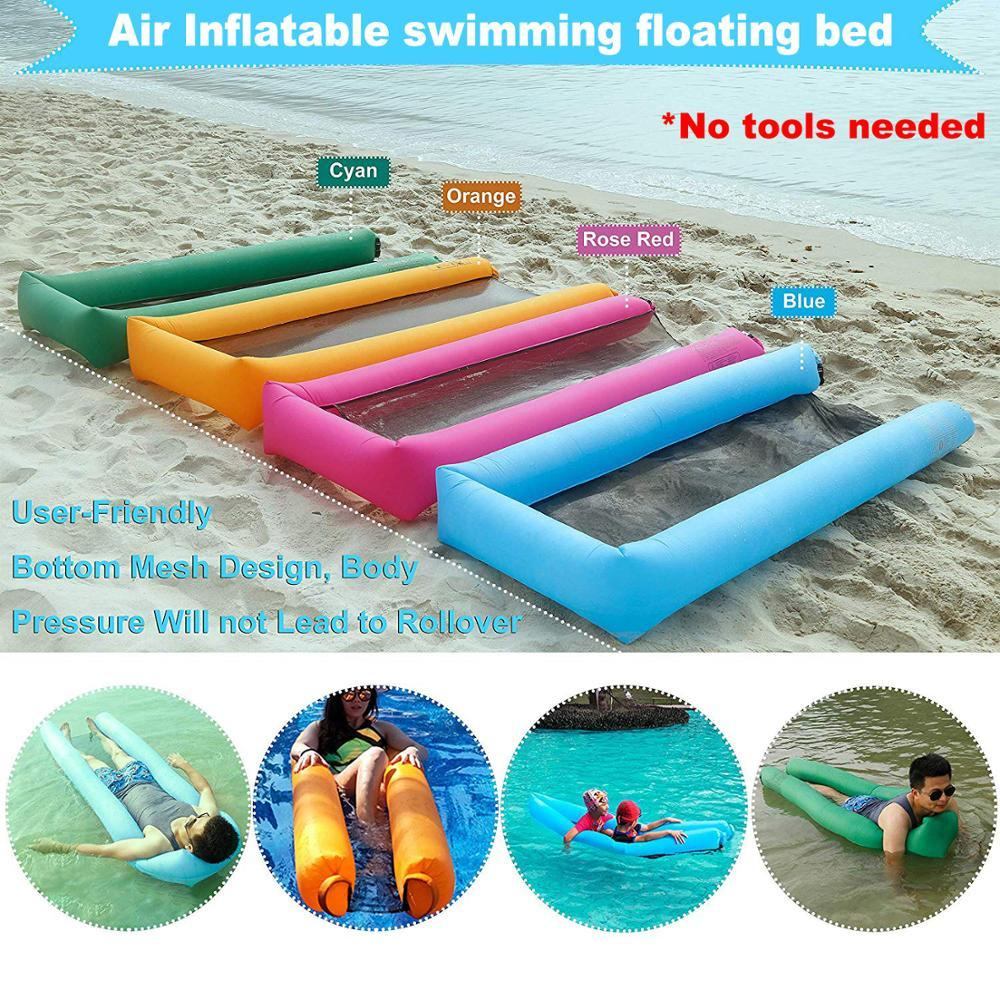 Inflatable Pool Floats Portable Floating Lounger Chair Water Hammock ...