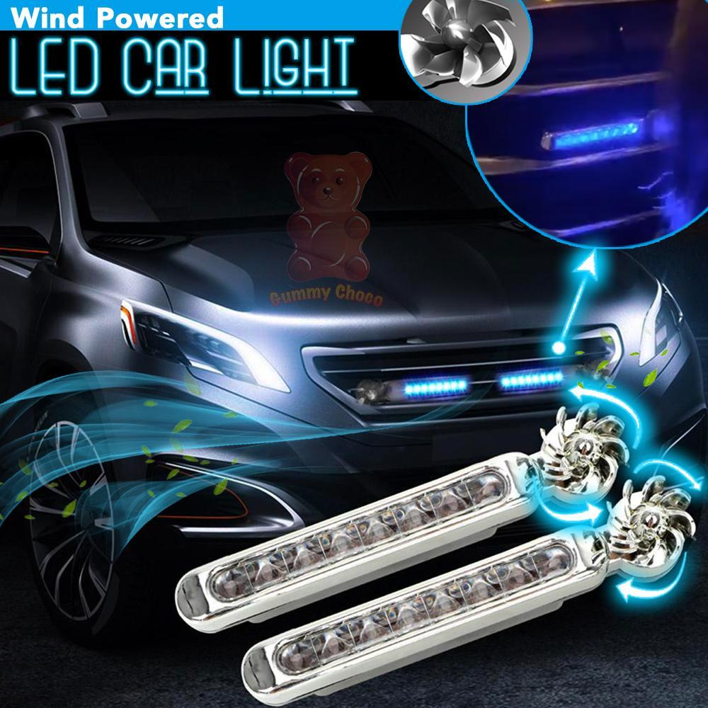 Wind Powered LED Car Light 2pcs