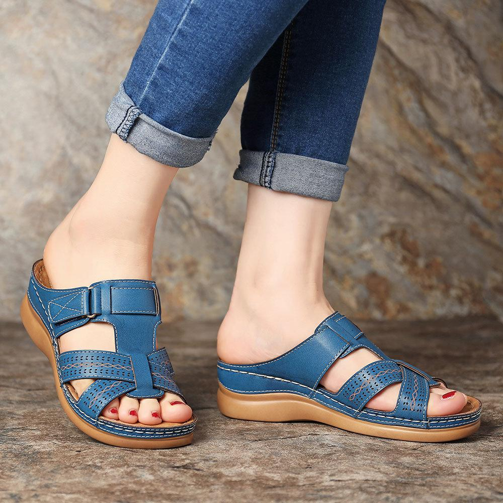 Women's Summer Open Toe Hook Loop Sandals