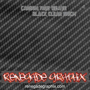 Carbon True Weave Black and Clear 100cm