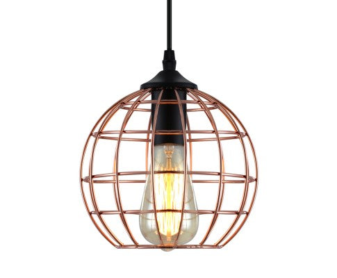 Pendant Light Metal Round Gold