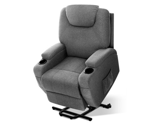 Electric Massage Chair Recliner Sofa Lift Motor Armchair Heating Fabric