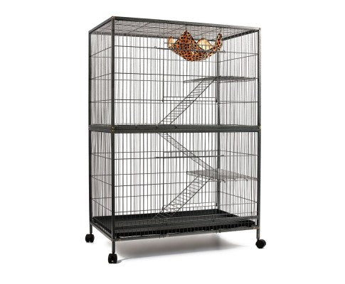 i.Pet 4 Level Pet Cage ferret/bird - Black