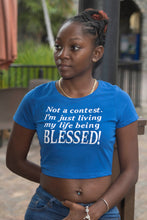 Load image into Gallery viewer, Blessed (Crop Tee)