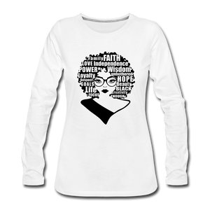 She Is Unique (Long Sleeved) - white