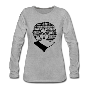 She Is Unique (Long Sleeved) - heather gray