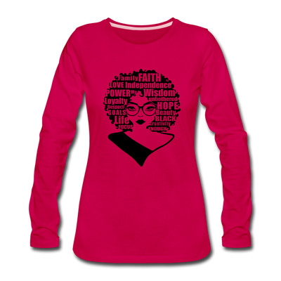 She Is Unique (Long Sleeved) - dark pink