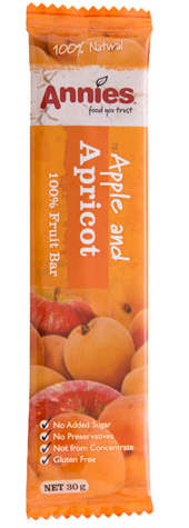 Annies Apple and Apricot Fruit Bar