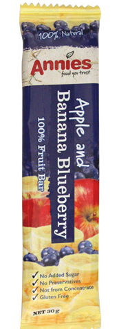 Annies Apple and Banana Blueberry Fruit Bar