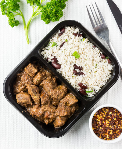 Beef Madras and Coconut Rice - Muscle Fuel