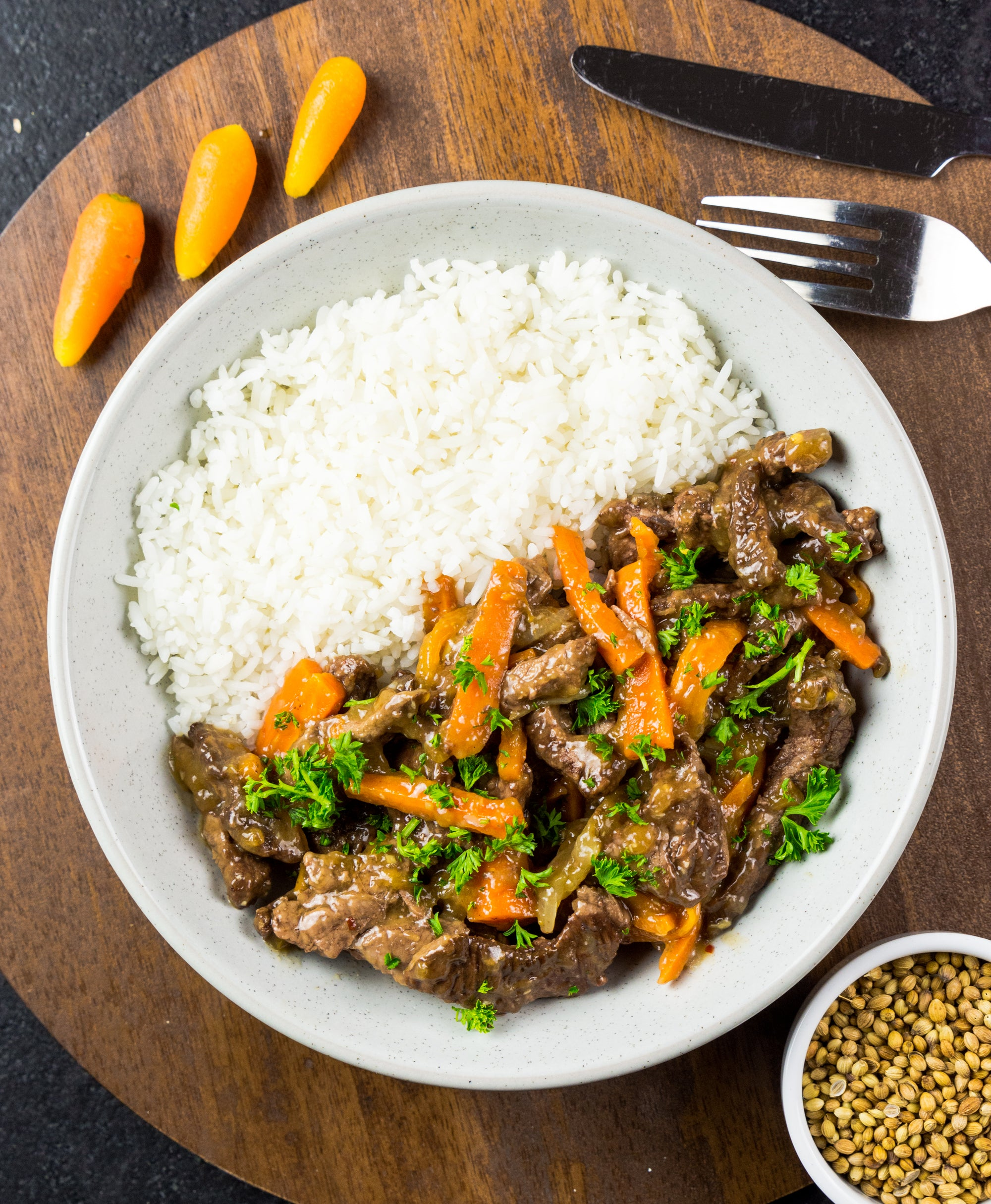 Beef Stirfry and Jasmine Rice