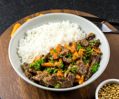 Beef Stirfry and Jasmine Rice - Muscle Fuel