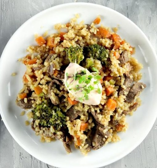 CBF – Beef Fried Rice & Sweet Chilli Aioli