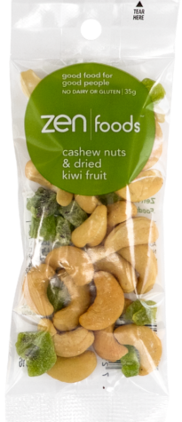 ZEN Foods Cashews & Kiwi Fruit