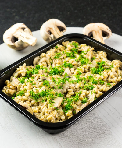 Chicken Pearl Barley Risotto - Muscle Fuel