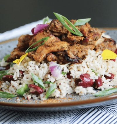 Jamaican Jerk Chicken on Coconut Rice - Muscle Fuel